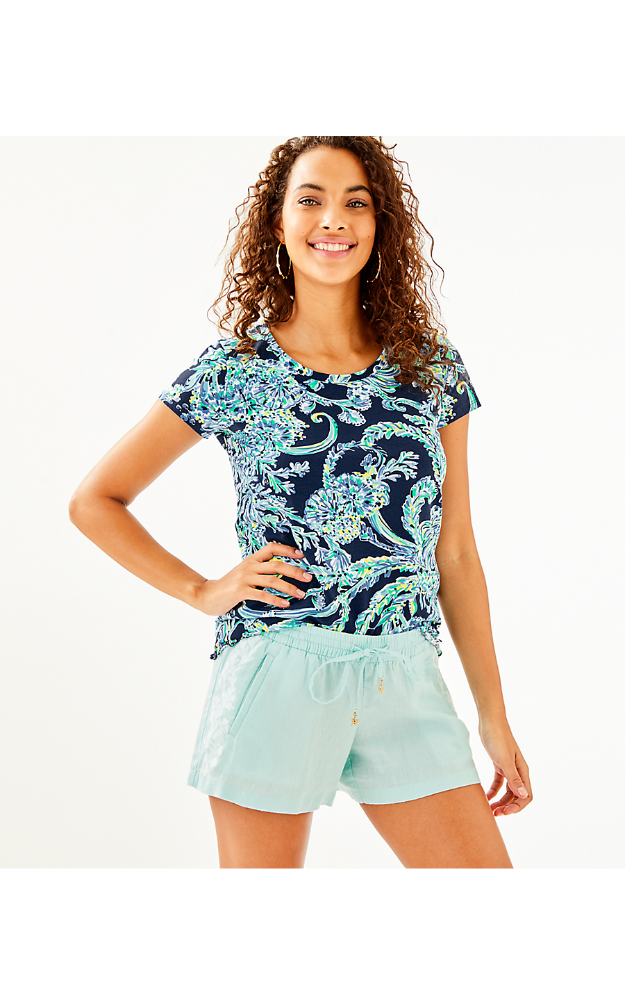 4227f124b BAYBREEZE SHORT - WHISPER BLUE - Lilly Pulitzer Store - Life's a Beach