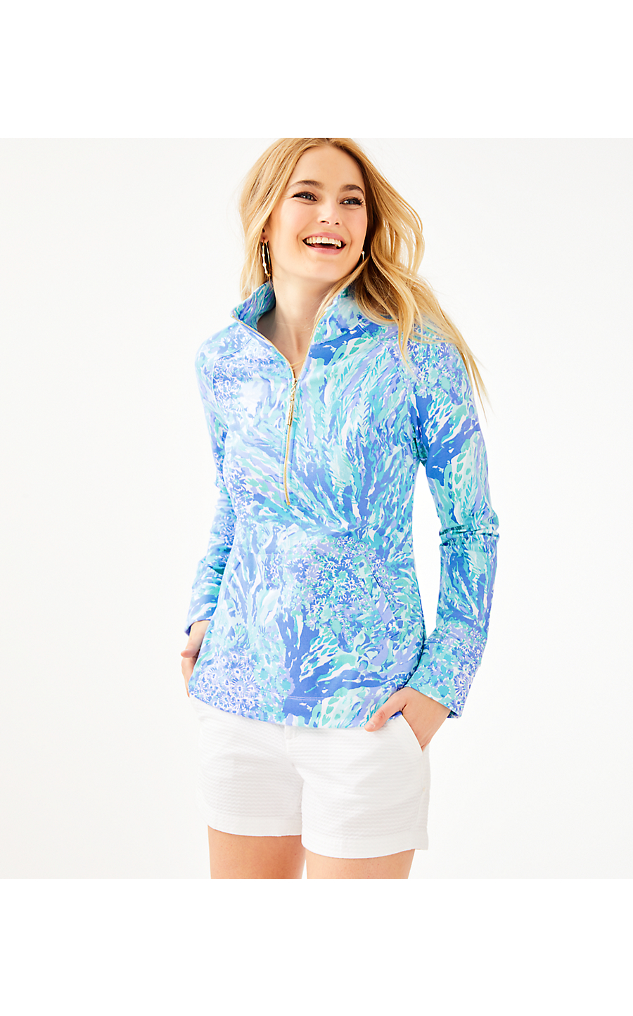 b1a57531096a95 UPF 50+ SKIPPER POPOVER - HEY HEY SOLEIL - Lilly Pulitzer Store ...